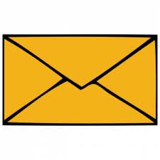 Briefumschlag Gelb