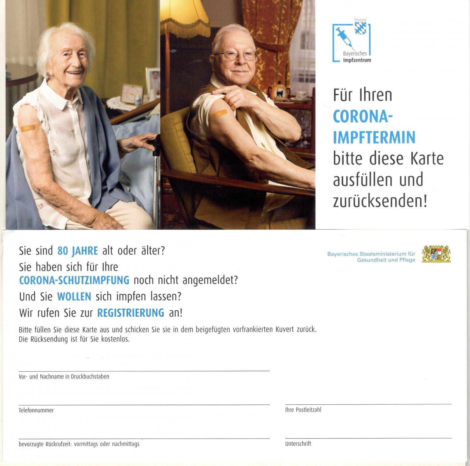 Postkarte Impfen