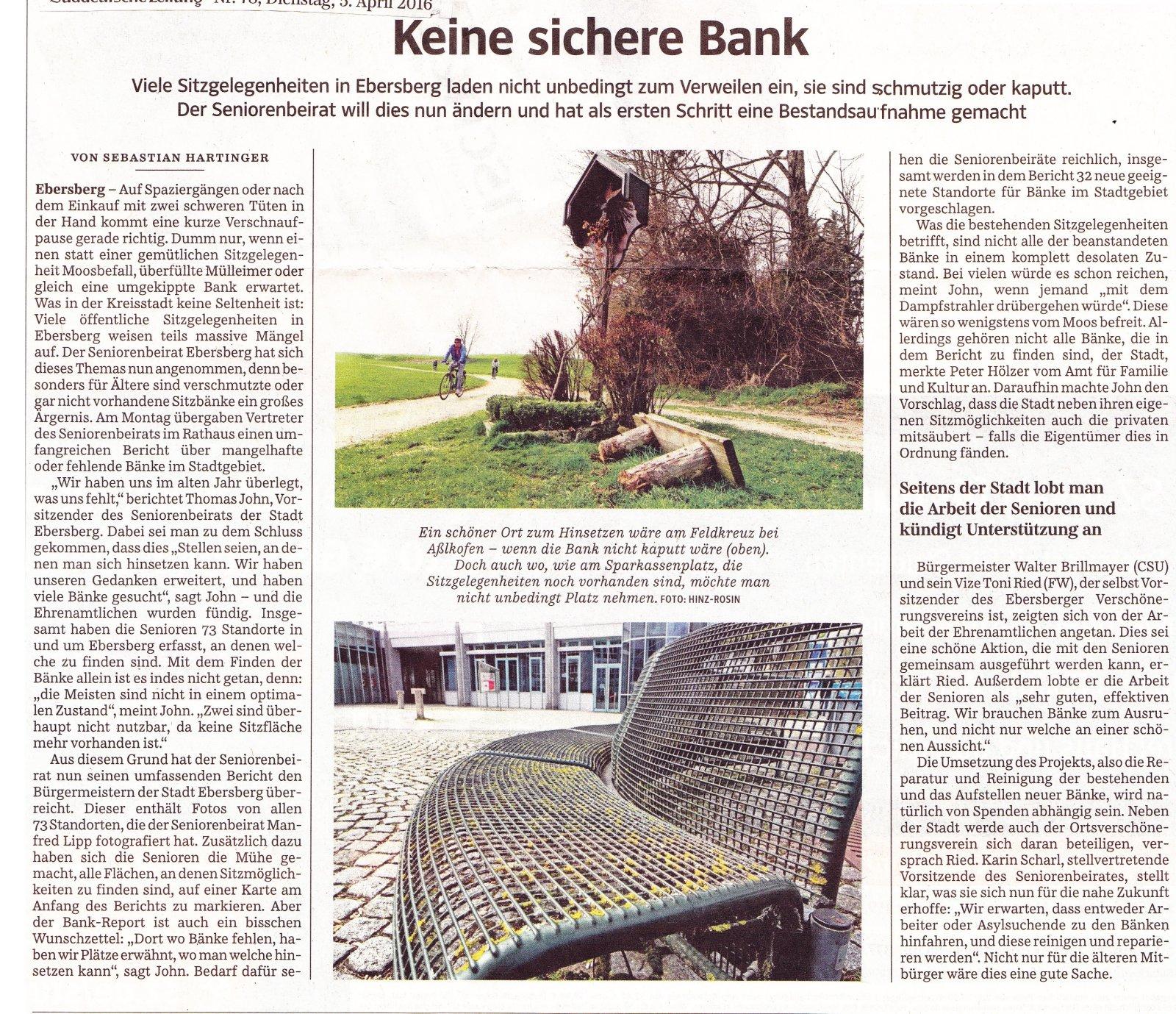 Süddeutsche Zeitung 4.4.2016