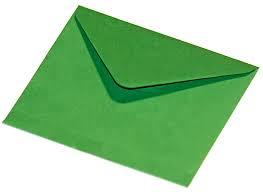 Briefumschlag Grün